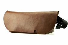 MESSENGER BAG (L)/BROWN-FAS