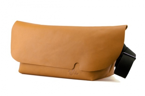 MESSENGER BAG (L)/LITE BROWN-FAS