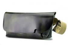 MESSENGER BAG (M)/DARK GREEN-FAS