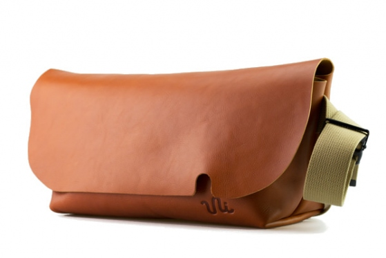 MESSENGER BAG (M)/COGNAC-FAS