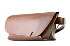 MESSENGER BAG (M)/LS-BROWN-FAS