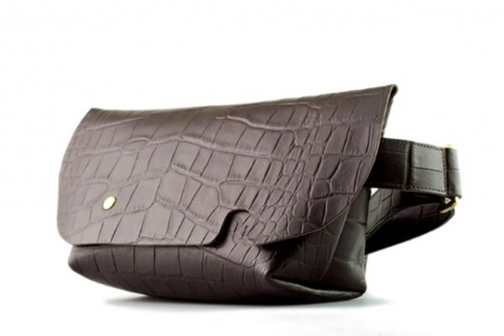 MESSENGER BAG (XS)/CROCO PATTERN BROWN-FAS