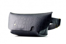 MESSENGER BAG (XS)/CROCO PATTERN NAVY-FAS